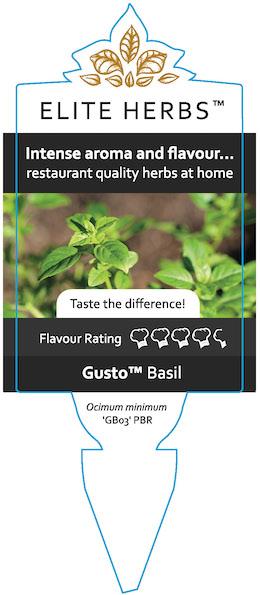 Gusto Basil Label