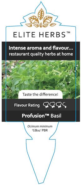 Profusion Basil Label