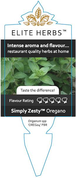 Simply Zesty Oregano Label